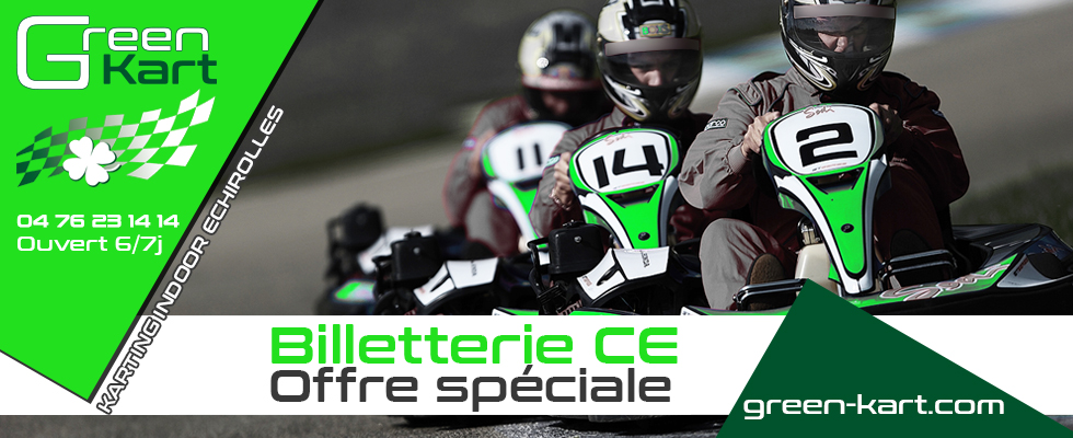 Comités d'entreprises. Green Kart circuit de Karting près de Grenoble